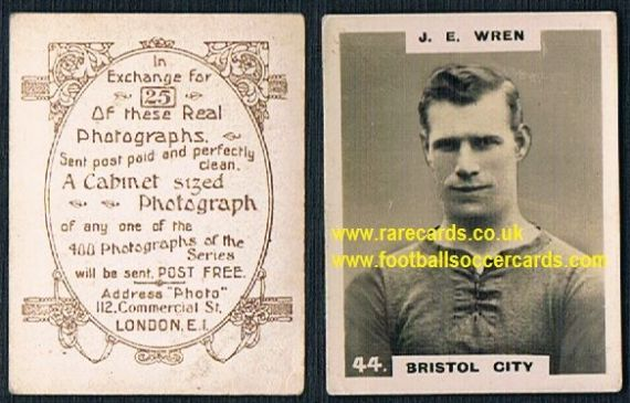 1919 pinnace brown oval back Bristol City Wren 44
